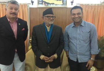 At jajarkot with PM Sushil Koirala